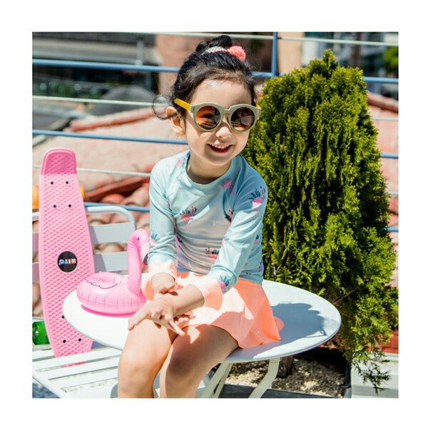 New Style Children Girls Big Boy Bathing Suit Long Sleeve Split Skirt-Baby Swimwear Hot Springs Quick-Dry Floral-Print Sun-resis