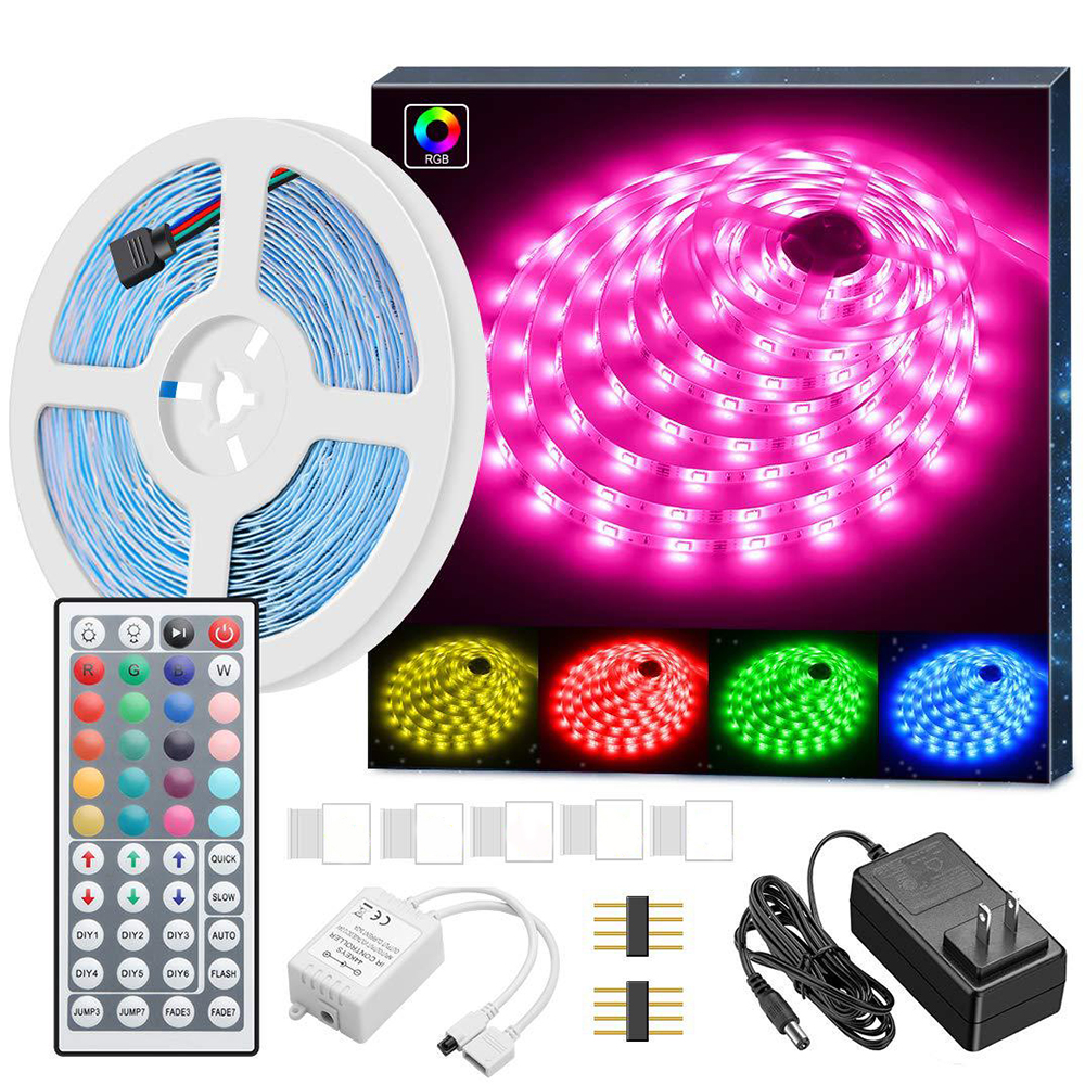 5050 RGB LED Strip Lights Color Changing LED Ribbon Lights With Remote Control For Home Lighting Kitchen Bed Flexible Strip Ligh
