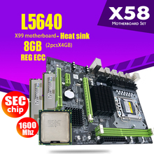 LGA1366 Combos Atermiter X58 L5640 Ddr3-Ram CPU 1600mhz PC3 2pcs 4GB 8GB Heat-Sink