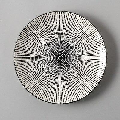 Креативный японский стиль 8 керамическая тарелка дюймовая посуда для завтрака говядины десертное блюдо для закусок простое мелкое блюдо домашнее блюдо для стейков - Цвет: 8
