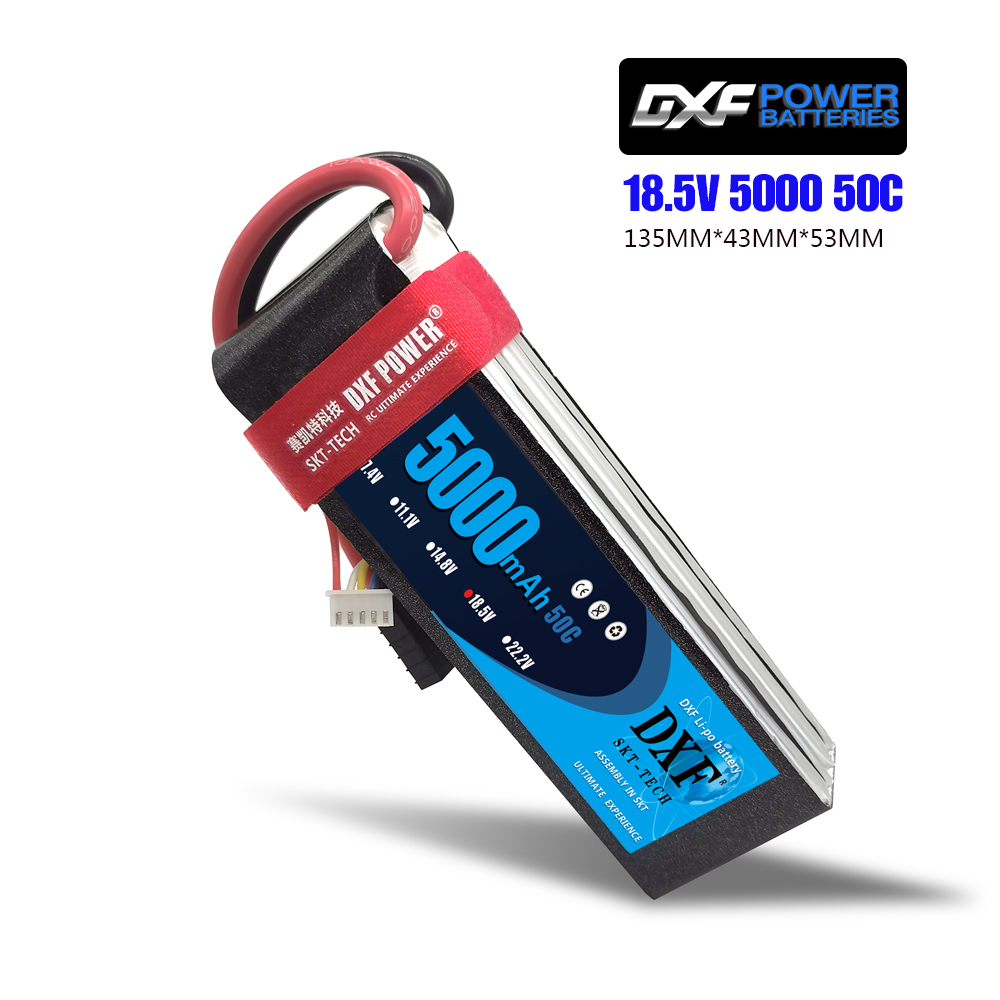 DXF RC <font><b>Lipo</b></font> Battery <font><b>5S</b></font> 18.5V <font><b>5000mah</b></font> 50C Max 100C For Airplane Helicopter Drone T-REX550 600 GAUI X5 Outrage 550 Hirobo SDX image