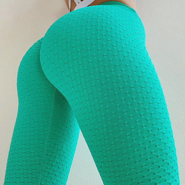 Fitness Leggings Active Wear Neon Solid Print Leggings High Waist Workout Sporty Pants Elastic Green Women Leggings Athleisure 2