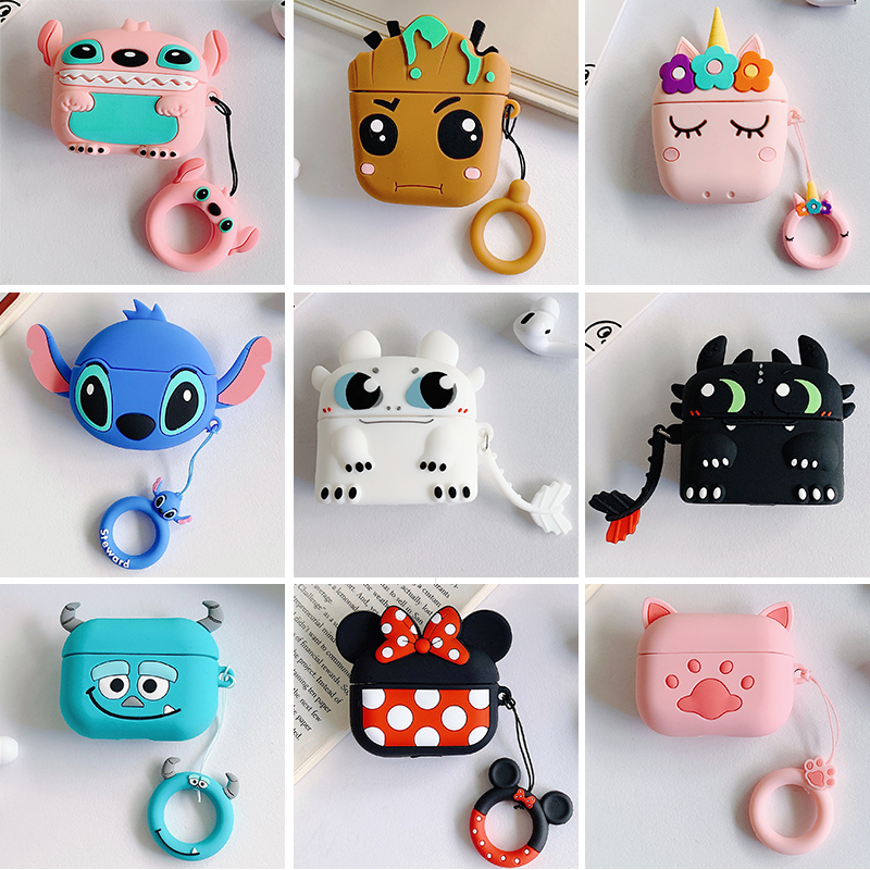 Cartoon Cute Box Wireless Bluetooth Earphone Airpods Pro Case Protective Cover For Apple Airpods Pro Headset Silicone Soft Case