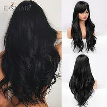 Easihair длинные черные парики косплей волнистые синтетические