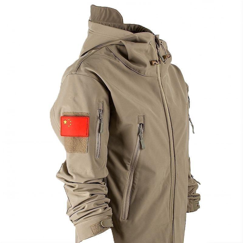Army Shark Skin Soft Shell Clothes Tactical Windproof Waterproof Jackets Men Flight Pilot Hood Coat Military Field bomber S-4XL