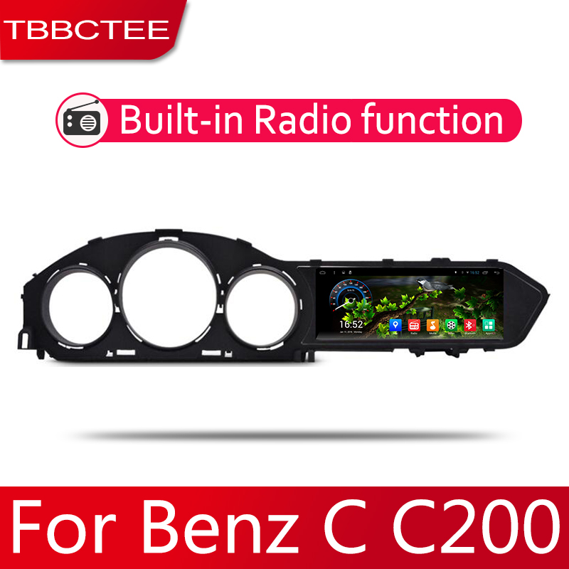 Android 2 Din Car radio Multimedia Video Player auto Stereo GPS MAP For Mercedes Benz C Class W200 2011 2014 Media Navi in Car Multimedia Player from Automobiles Motorcycles