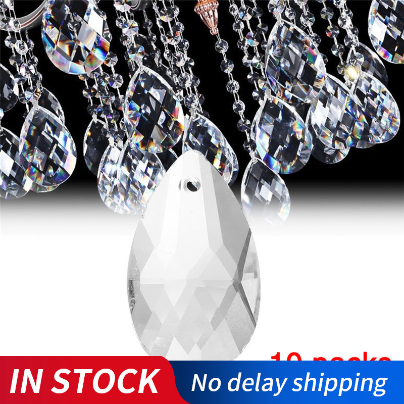 10Pcs/Pack 22mm Crystal Ball Prism Faceted Glass Chandelier Crystal Parts Hanging Pendant Lighting Ball DIY Accessories