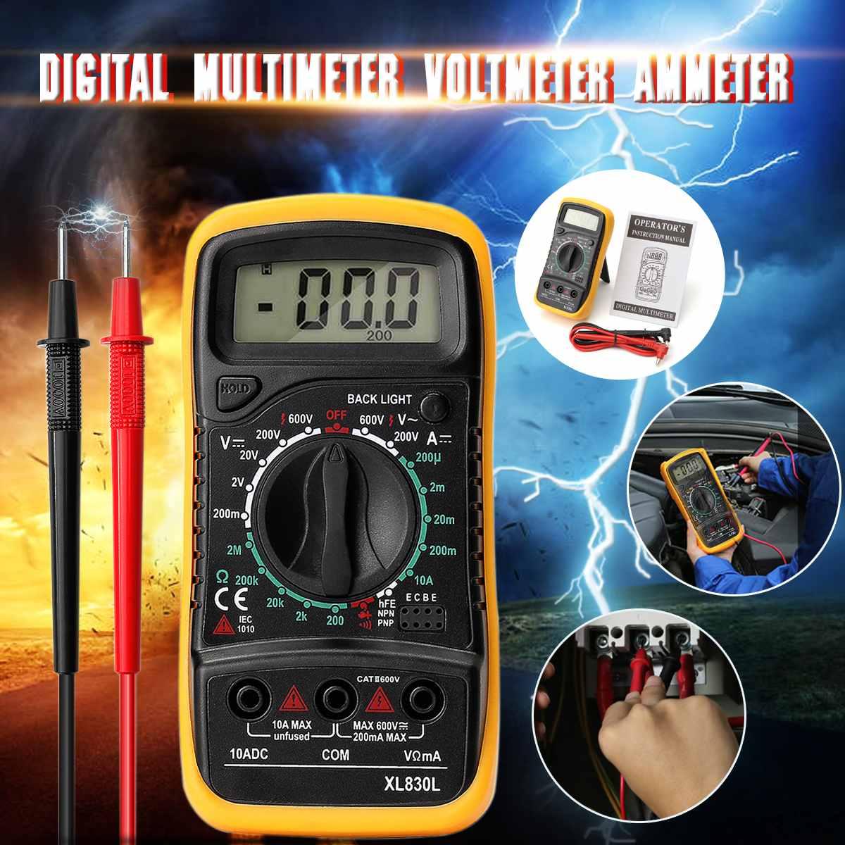 Портативный портативный цифровой мультиметр mustools, электрический ЖК-дисплей, вольтметр с подсветкой, амперметр постоянного и переменного т...