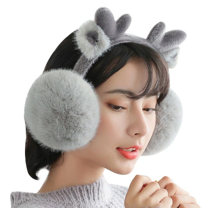 Winter Warm Ear Warmer Earmuff Cute Girl Furry Earmuff Luxury Soft Earmuffs Ear Warmer Ear Muffs Gift