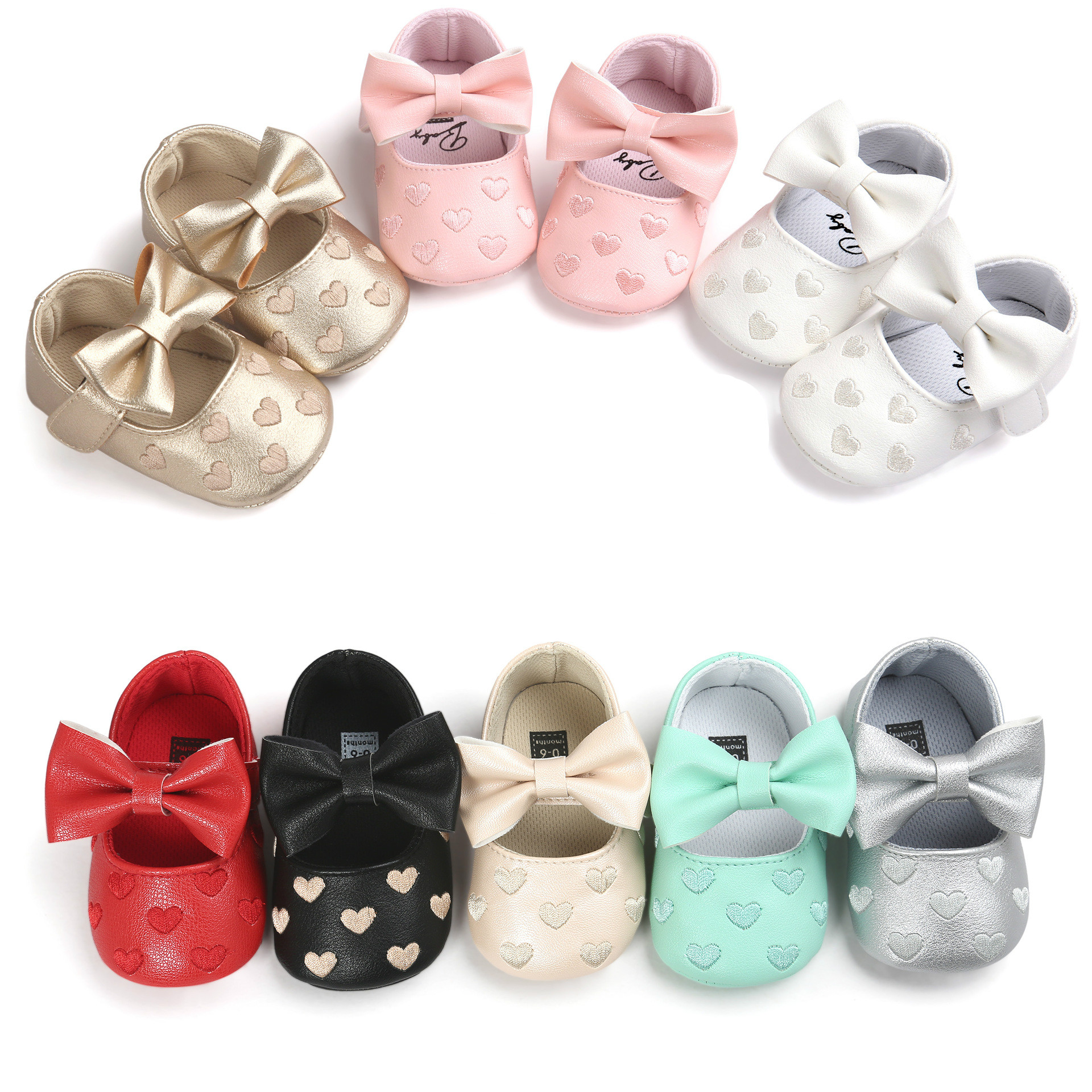 Spring Summer Baby PU Leather Baby Boy Girl Baby Moccasins Moccs Shoes Bow Fringe Soft Soled Non-slip Footwear Crib Shoes 0-18M