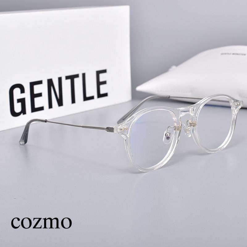 Круглая оправа, Женские оправы для очков GM, очки COZMO, очки для близорукости, женская и мужская оправа, очки для чтения, простые стеклянные очк...