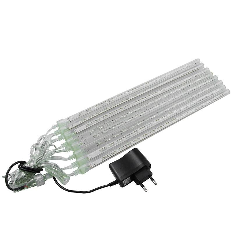 30/50cm Solar 126 LED Meteor Shower Light Waterproof Rain Tube Xmas Tree Light