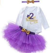 Платье для маленьких девочек 2nd платье на день рождения от 2 лет Одежда для маленьких девочек модная одежда с длинными рукавами, платье для м...