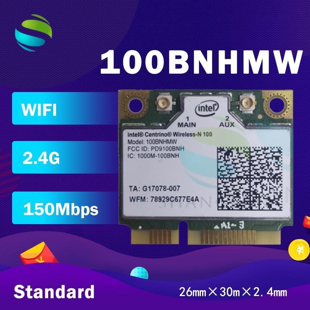 Wifi card for intel Centrino Wireless-N100 100BNHMW 150Mbps 802.11b/g/n Half Mini PCI-e WLAN Wireless Card(China)