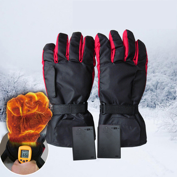 Battery-Type Carbon Fiber Heating Gloves Battery Box Electric Ski Motorcycle Heated Gloves Winter Hand Warm Gloves heating pads cold weather heated socks usb lithium battery cotton material leg warmers carbon fiber electric heated health care