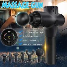 4000r / MinG001 Vibrating Fascia Gun Muscle Massage Gun Deep Tissue Massager Treatment Gun Exercise Muscle Pain Relief Body Shap