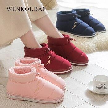 Home Slippers Women Winter Indoor House Shoes Warm Fur Slides Ladies Slipper Femme Plush Warterproof Pantuflas De Mujer - discount item  46% OFF Women's Shoes