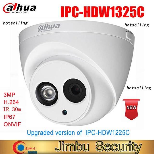 Hot selling Dahua IP Camera 3MP IPC HDW1325C H.264 IP67  CCTV Camera IR 30M Surveillance Network Dome Camera ONVIF