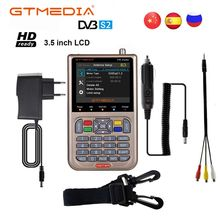 GT MEDIA V8 Finder Satellite signal Finder HD DVB S2 MPEG 2/MPEG 4 FTA Digital Satellite meter Display DVB S2X Satfinder Battery