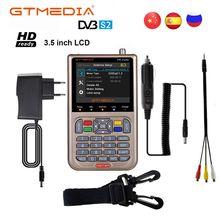 GT מדיה V8 מאתר אות לווין Finder HD DVB S2 MPEG 2/MPEG 4 FTA דיגיטלי לווין מטר תצוגת DVB S2X Satfinder סוללה