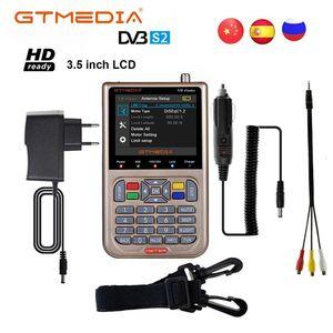 Image 1 - GT מדיה V8 מאתר אות לווין Finder HD DVB S2 MPEG 2/MPEG 4 FTA דיגיטלי לווין מטר תצוגת DVB S2X Satfinder סוללה