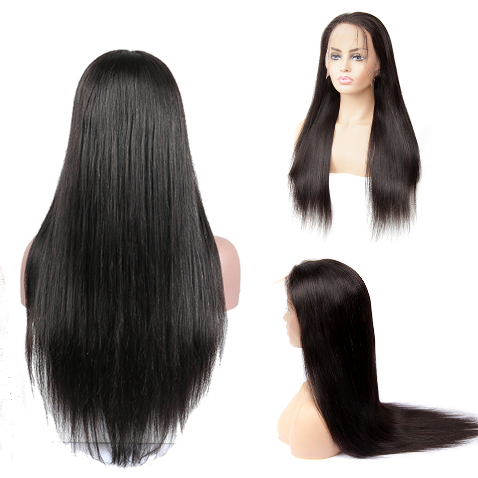 13x4 Remy Straight Lace Front Human Hair Wigs Brazilian Human Hair Wig Extensions Near Me For Black Pre Plucked With Baby Hair-in Lace Front Wigs from Hair Extensions & Wigs