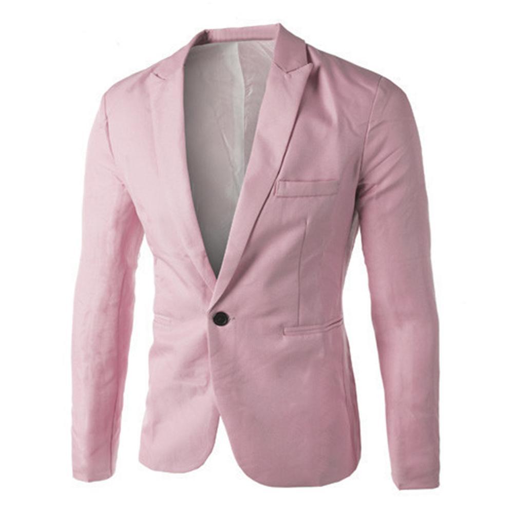 Мужской однотонный Блейзер, повседневный деловой пиджак для свадьбы, выпускного вечера