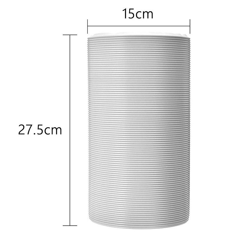 1,5 м Универсальная выхлопная труба шланг трубки вентиляционная труба для Портативный кондиционеры 6 дюймов вентиляционный шланг части телескопической потребление выпускной клапан