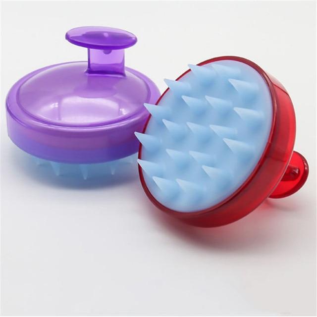 1PC Massage Silicone Brush Head Scalp Brush Comb Hair Washing Comb Shower Bath Brush props 3