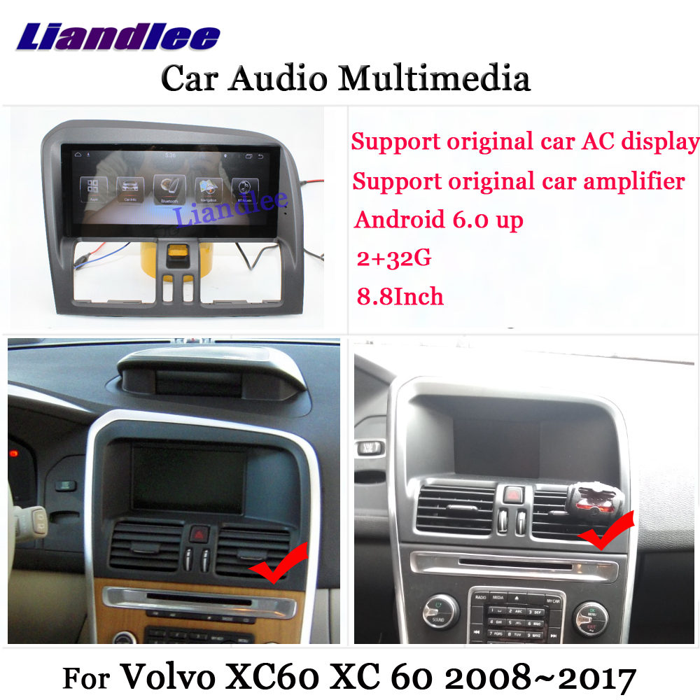 Liandlee Android For <font><b>Volvo</b></font> XC60 <font><b>XC</b></font> <font><b>60</b></font> 2008~<font><b>2017</b></font> Stereo Radio Carplay Parking Camera TV Wifi AUX GPS Navi Navigation Multimedia image