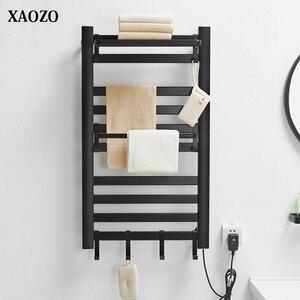 bathroom Electric bath towel warmer Heating Towel shelf rack Household Towel Rack warm towel dryer shelf heated towel rail black