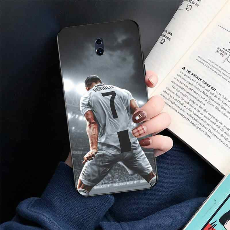 HPCHCJHM piłki nożnej superstar Ronaldo CR7 miękkiego silikonu TPU telefon etui na Oppo A5 A9 2020 Reno2 z Renoace 3pro Realme5Pro