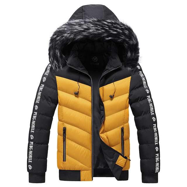 Winter Jacket Men 2021 Fur Collar Hooded Thick Warm Cotton Outwear Man Patchwork Parka and Coats Windbreaker Parkas Male M-5XL 2