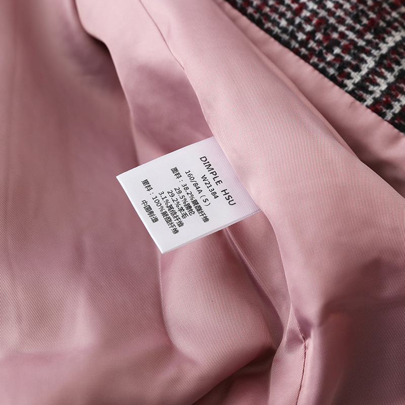 Frauen Plaid Blazer Britischen stil herbst lose plaid jacke verdickung kaschmir temperament retro woolen kleine anzug weibliche - 5