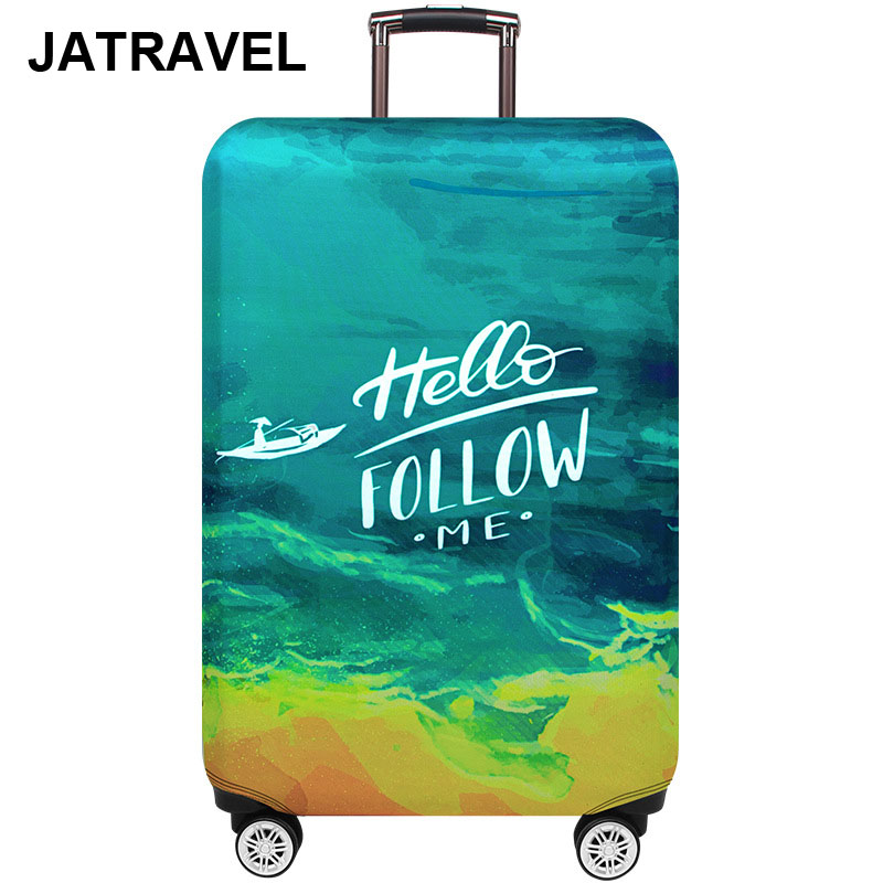 JATRAVEL Travel Thicker Sea Boat  Suitcase  Luggage Covers For Trunk Case Apply To 18''-32'' Trolley Travel Accessories