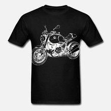 Mode RnineT T-Shirt mit Grafik R nineT Moto Rallye R nine T Motorrad Fahrer T-Shirt