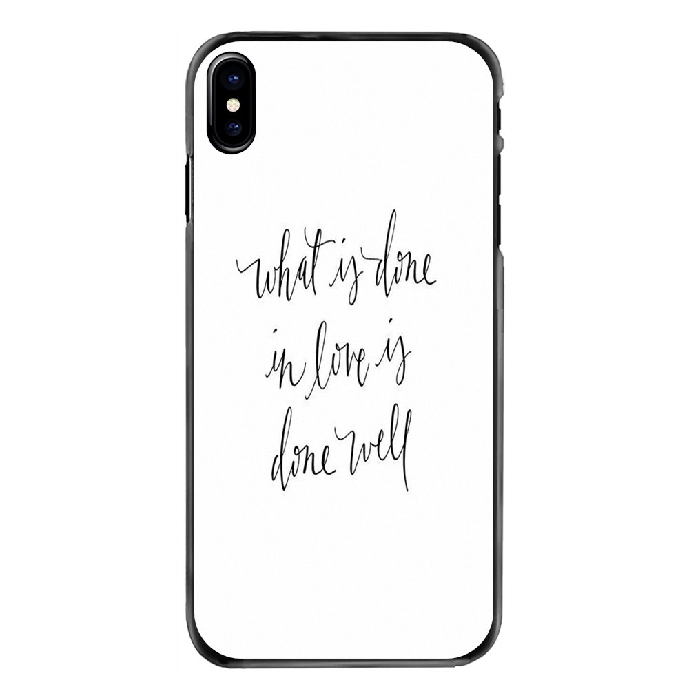 Phone Shell Cover For LG G6 L90 V20 Nexus 5X K10 Moto E E2 E3 G G2 G3 G4 G5 PLUS X2 Play What is done in love is done well Print image