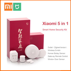 Image 1 - Original Xiaomi Mijiart Home Kit Infrared Human Body Sensor New Gateway Door Window Sensor Wireless Switch ZigBee Socket 5 in 1