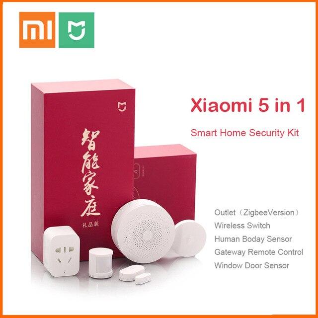 Original Xiaomi Mijiart Home Kit Infrared Human Body Sensor New Gateway Door Window Sensor Wireless Switch ZigBee Socket 5 in 1