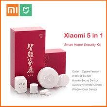 Original Xiaomi Mijiart Home Kit Infrarot Menschlichen Körper Sensor Neue Gateway Tür Fenster Sensor Drahtlose Schalter ZigBee Buchse 5 in 1