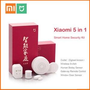 Image 1 - מקורי Xiaomi Mijiart בית ערכת אינפרא אדום אנושי גוף חיישן חדש Gateway דלת חלון חיישן אלחוטי מתג ZigBee שקע 5 ב 1