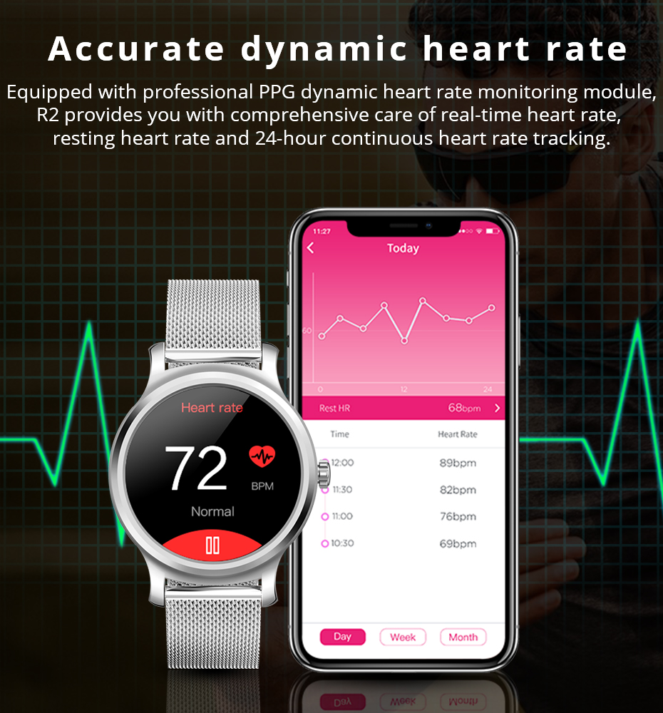 Makibes R2 Smart watch Men GPS Bluetooth Heart Rate Monitor clock Call Message Reminder Music Playe Fitness tracker smartwatch_05