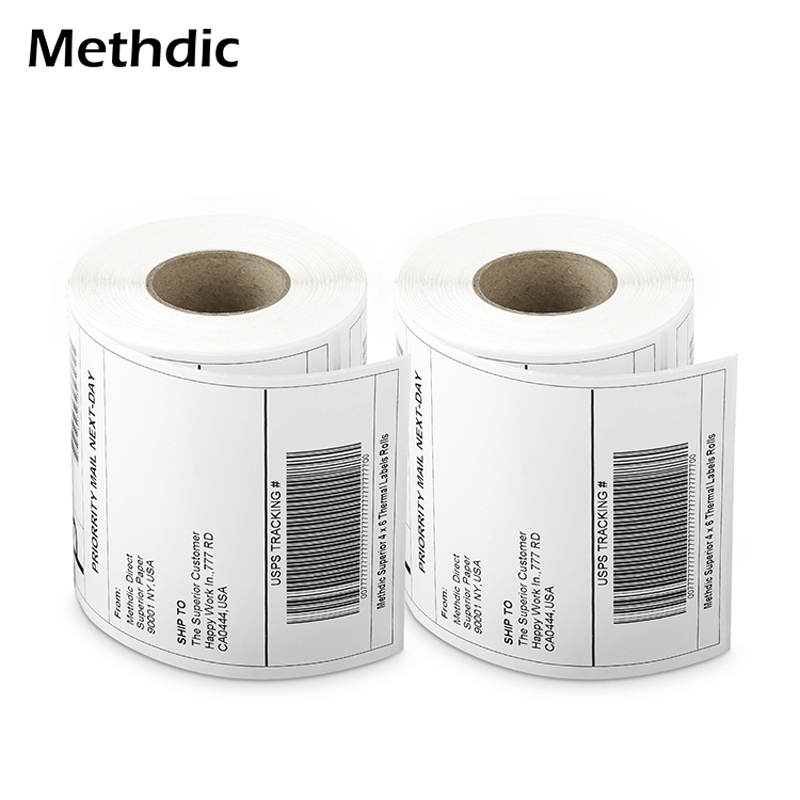 Methdic Adhesive Sticker 4X6 Thermal Shipping Labels Address Labels