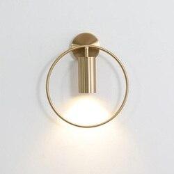 LukLoy Nordic proste okrągłe lampy ścienne dla pokoju gościnnego LED nowoczesna ściana kinkiet kryty LED ściana światło jadalnia światła oprawy oświetleniowe w Wewnętrzne kinkiety LED od Lampy i oświetlenie na