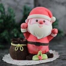 3d формы для торта Санта Клаус moose силиконовые ремесла детские