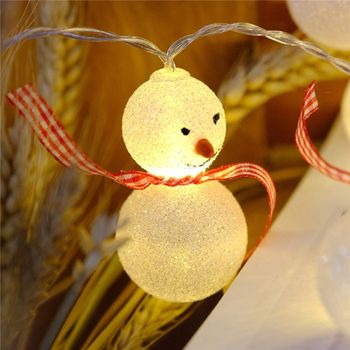 10/20 Snowman Decorative String Light LED 1.5m 3m Christmas New Year Decor for LED smkj e1hq christmas colored hair ball decorative snowman ornaments 10 pcs