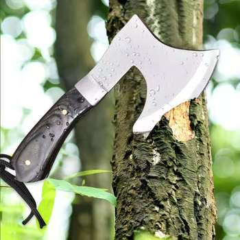 Meat cutting and bone cutting multi-function tomahawk mountain axe machete camping hunting survival outdoor activities 5