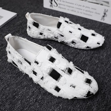 Spring Autumn Men Casual Shoes Light Breathable Fashion Loafers Driving Doug Shoes For Man X030 недорого