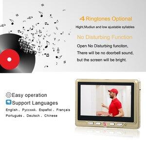 Image 5 - Saful 4.3Door Viewer Peephole Camera with PIR Motion Detect and IR Night Vision Video Camera Eye Doorbell Mini camera