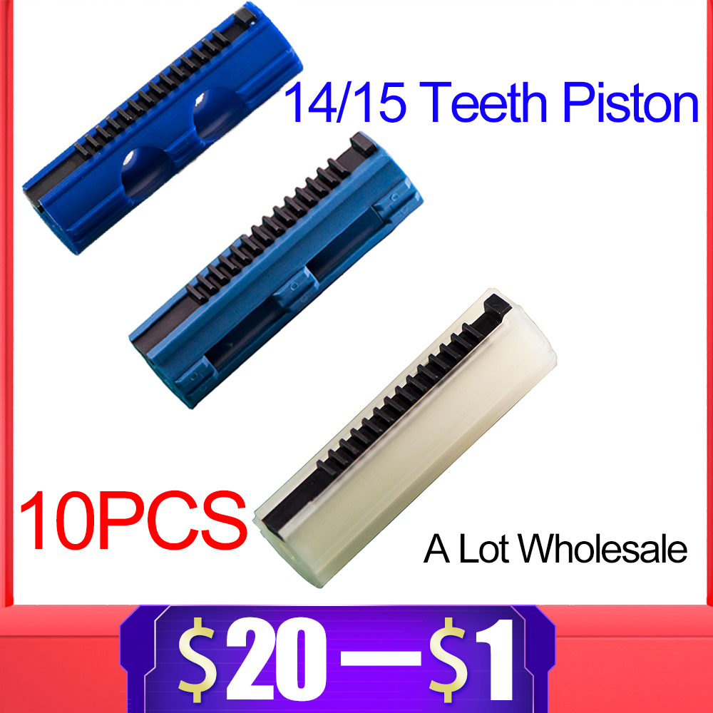 10PCS 14/15 Ladder Teeth Reinforced Carbon Piston Plastic Full Steel For Airsoft AEG Gel Blaster M4 JinMing Paintball Accessory